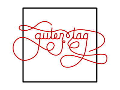 Guten Tag lettering art typography lettering hand lettering