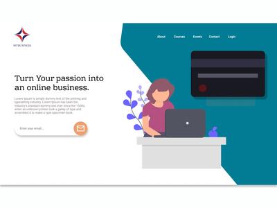 Design a simple landing page