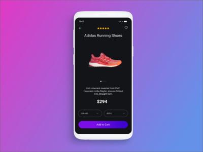 Adidas Running Shoes App Screen