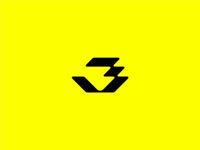 3 number logo 36dayoftype 3 logo
