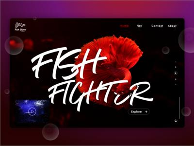 UI Fish Store Website Exploration