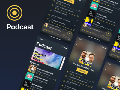 Podcast app Concept | Uplabs Challenge