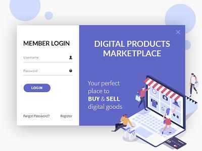 Digital Market Place - UI Design online ordering flat design ui ux design sell buy online shopping