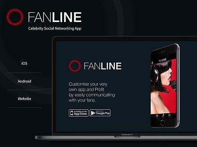 Fanline - Website UI UX Design and Development entertainment mobile app event app fun