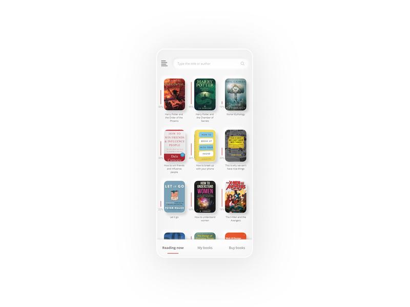 Reading application concept. neumorphism neumorphic search reading list reading app reading application app uiux uxui ui ux adobe adobexd