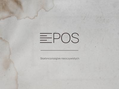 EPOS - the used books store logo affinity designer affinity logo design shop bookstore sign typography branding design logo