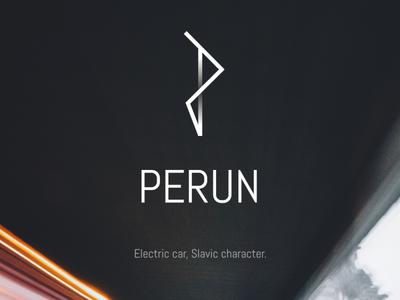 Perun - Polish electric car logo concept minimal line affinity designer affinity concept logodesign brand deisgn logo logo design