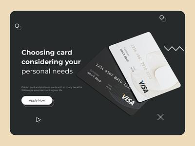 Credit Card Company - Landingpage design graphic design ui ux landing page design landingpage website webdesign