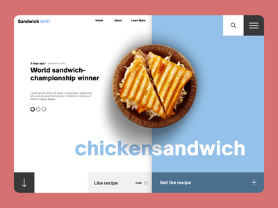Website - Sandwich Wiki typography design ui ux web landing page design landingpage website webdesign graphic design