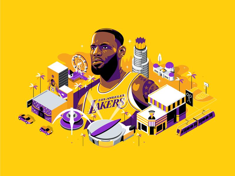 勒布朗詹姆斯 design vector illustration ui 湖人 nba finals 篮球 nba poster 詹姆斯