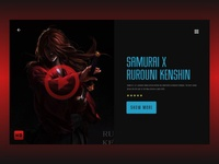 Samurai x Rurouni kenshin  landing page
