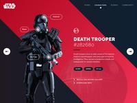 Starwars Deathtrooper Profile - Daily UI Challenge #006