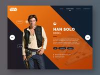 Starwars Han Solo Profile - Daily UI Challenge #006