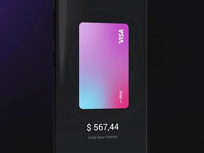 Concept Nfc Wallet applepay nfc ui animation 3d animation mobile iphone gif ios design app
