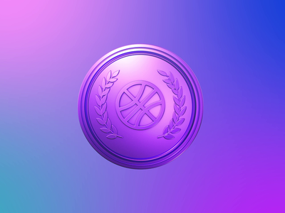 Dribbble achieve congratulation confetti medal design cinema4d 3d