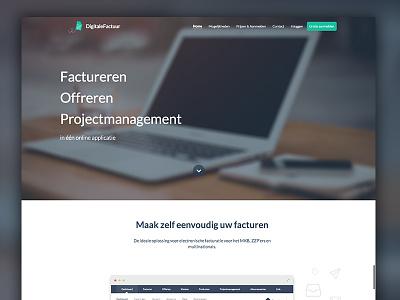 DigitaleFactuur website webdesign homepage invite debut