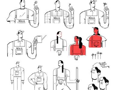 Farmers media video design branding vector 2d animation marketing illustraion logo graphic art illustration animation