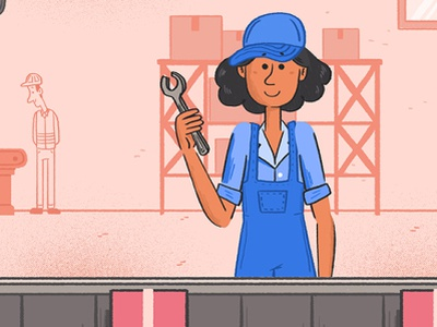 ROBOTS - Career Woman 2d animation art graphic design animation