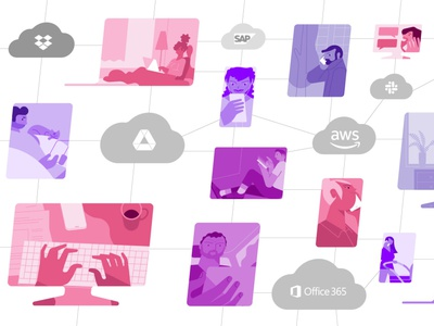 Tech animated video design branding media video graphic marketing design illustrator vector business illustration motiongraphics motion animation design animation