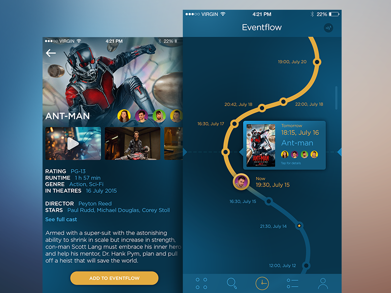 Eventflow App material socialnetwork feed mobile appdesign ukraine flat interface ux ui