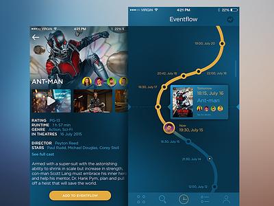 Eventflow App material socialnetwork feed mobile appdesign ukraine flat interface ux ui
