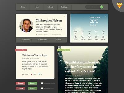 Free Eco UI Kit ukraine user interface ui ui kit web ux flat material concept webdesign graphic design