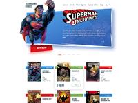 Comics shop home page by tubik studio
