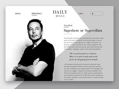 Daily Bugle Online Magazine application design ux ui material ios innovation minimal design flat ukraine magazine web