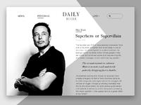 Daily bugle internet magazine by  tubik studio