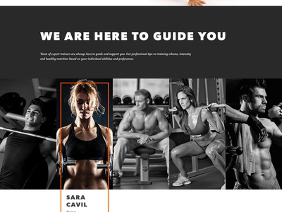 Gym Landing Page motion design landing page ios flat fitness sport gym animation ux ui ukraine web
