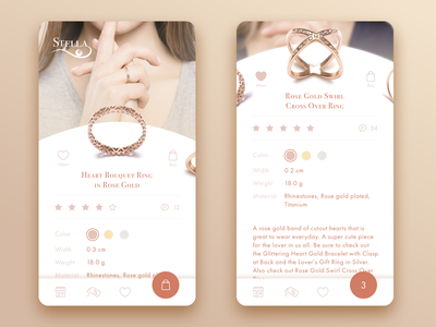Jewelry E-Сommerce Application motion design ios ukraine flat ux ui animation e-commerce jewelry jewellery