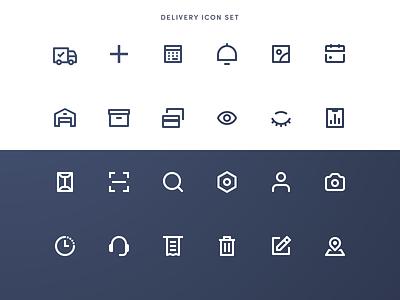 Delivery App Icons ios icon vector illustration ux ui flat ukraine