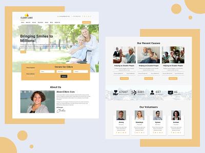 Elder Care – Responsive HTML Landing Page Template senior citizen and nursing home senior care health care old age home trust elder care charity responsive pennyblack pennyblack templates