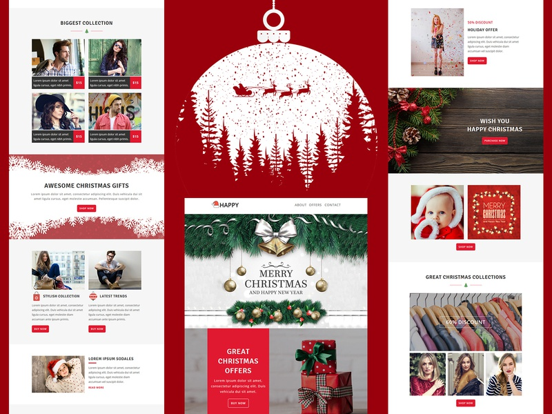 Happy Responsive Email Template corporate business newsletters stampready mailster christmas marketing mailchimp email templates responsive pennyblack templates