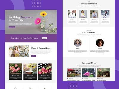 Bouquet Shop – Divi Layout divi layouts divi marketing responsive pennyblack pennyblack templates