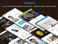 PHOENIX - Multi-Concept Responsive Email Pack - Newsletters