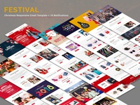 Festival – Christmas Responsive Email Templates