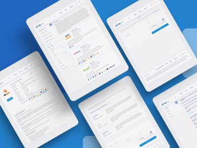 Fx List forex list forex brokerage brokers light blue logo site ui web design ecommerce