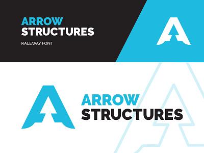 Arrow Structures Branding design logo raleway teal branding structures arrow