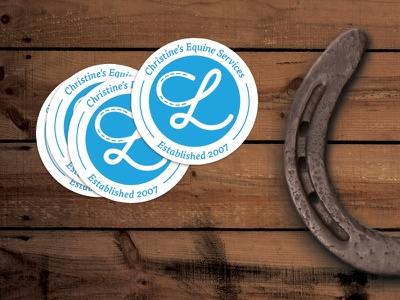 Christine's Equine Services horseshoe horse sticker services equine longnecker christine