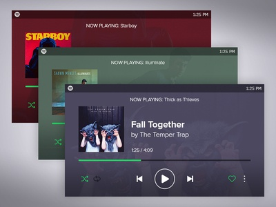 Mobile Spotify Landscape Redesign - Closer Look controls player music phone design interface ui spotify redesign mobile app