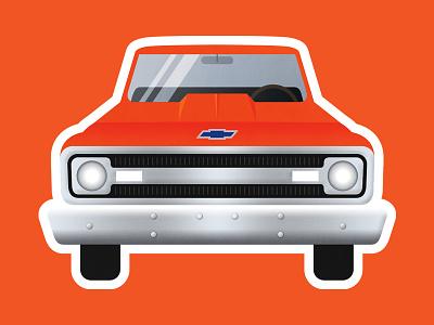 1969 Chevy C10 Sticker sticker classic 1969 c10 truck pickup chevy