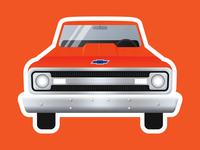 1969 Chevy C10 Sticker
