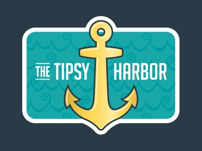 The Tipsy Harbor Wine Label New Look stickermule rebound sticker label wine harbor tipsy