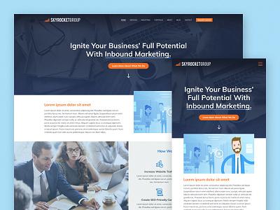 SkyRocket Group Website Redesign marketing inbound skyrocket mockup concept redesign website