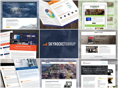 Best of 2018 Projects review best of skyrocketgroup portfolio 2018 website print design graphic