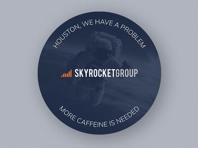 More Caffeine is Needed stickermule design coaster skyrocket