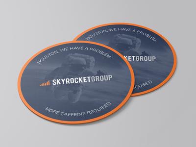 More Caffeine Required stickermule space caffeine skyrocketgroup design coaster