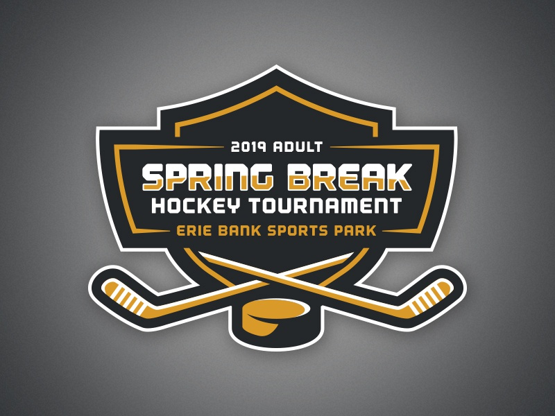 Erie Adult Hockey Tournament Logo By Kevin May On Dribbble