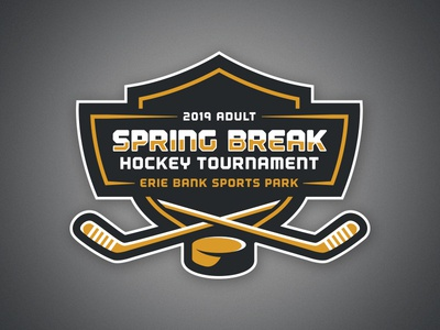 Erie Adult Hockey Tournament Logo gold black hockey logo logo tournament hockey ice adult erie